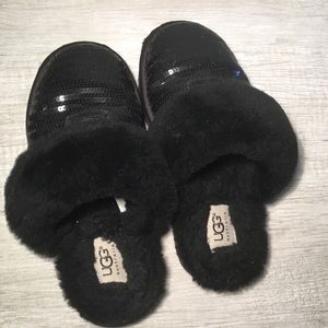 Sequin Ugg Slippers Girls Size 2